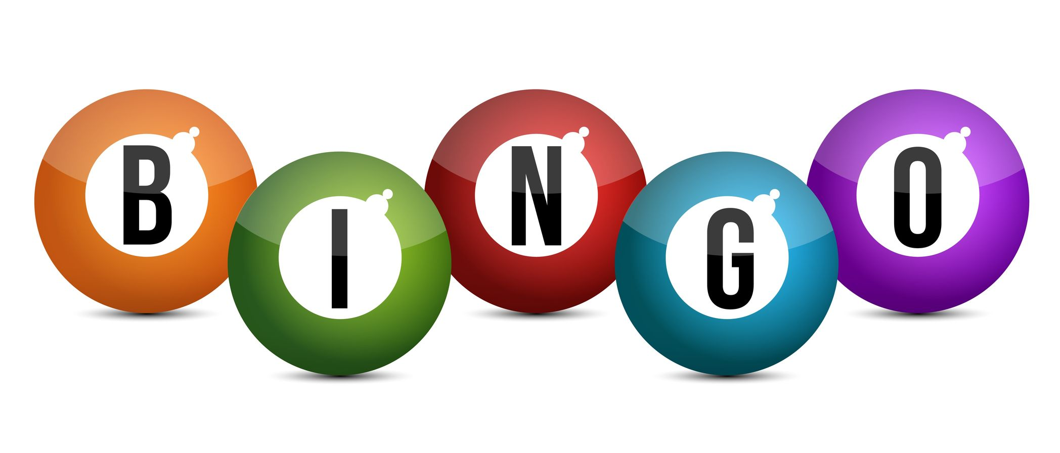 15174556 – brightly coloured bingo balls illustration design